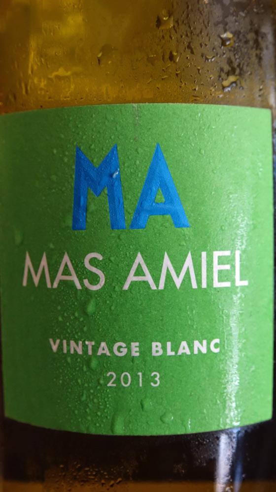 Maury Vintage blanc 2013 du Mas Amiel (recto)