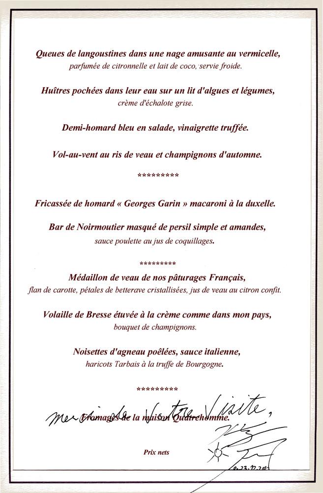 Carte de Gérard Besson dédicacée par Kei