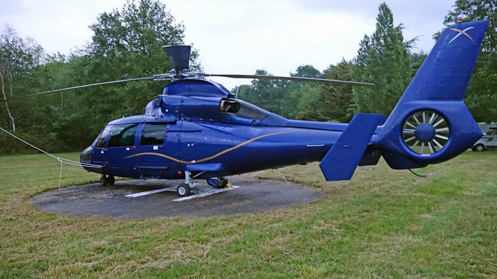 L'hélicoptère de JF Cartier