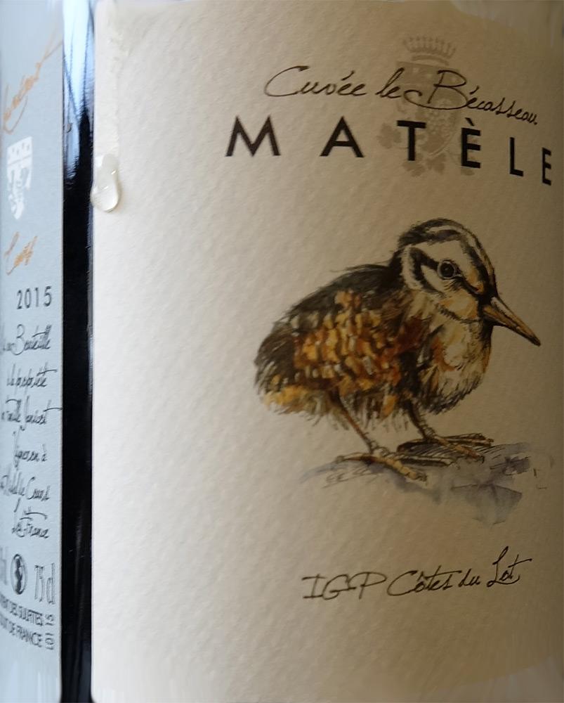 """IGP Côtes du Lot 2015 Matèle """"Cuvée le Bécasseau"""