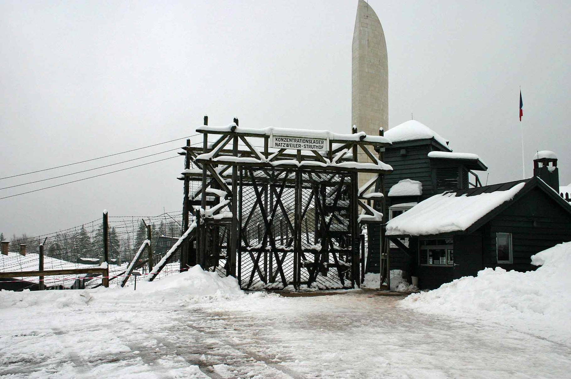 L'entrée du camp - 25 mars 2007