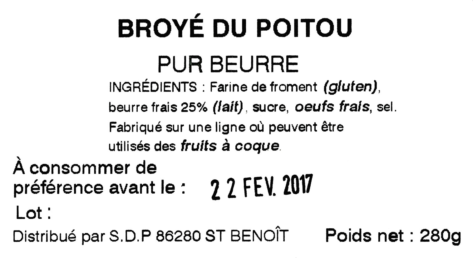Les broyés du Poitou viennent de la Biscuiterie Augereau