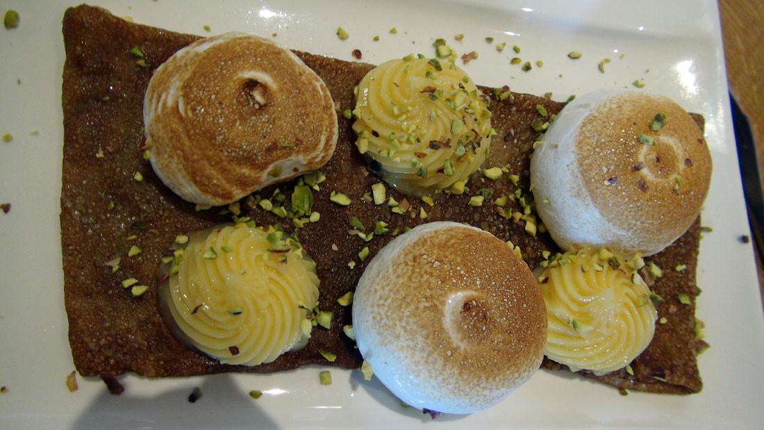 Crêpe façon tarte au citron meringuée