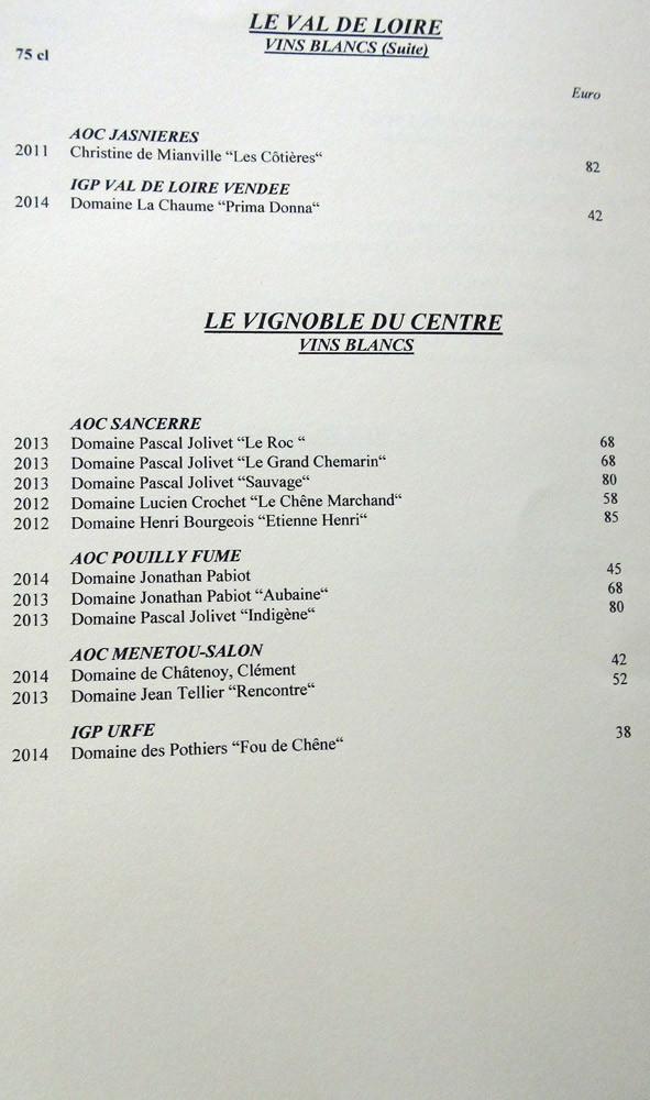 Les vins blancs du Val de Loire et du Centre