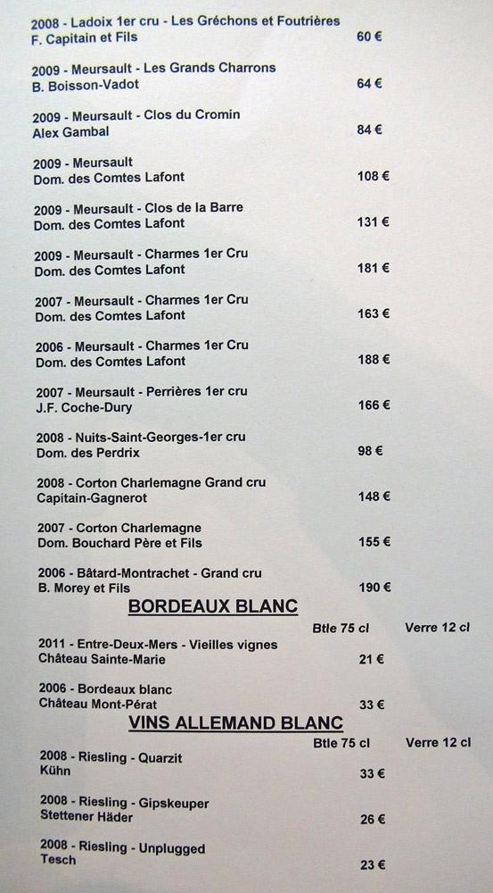 Vins blancs de Bourgogne