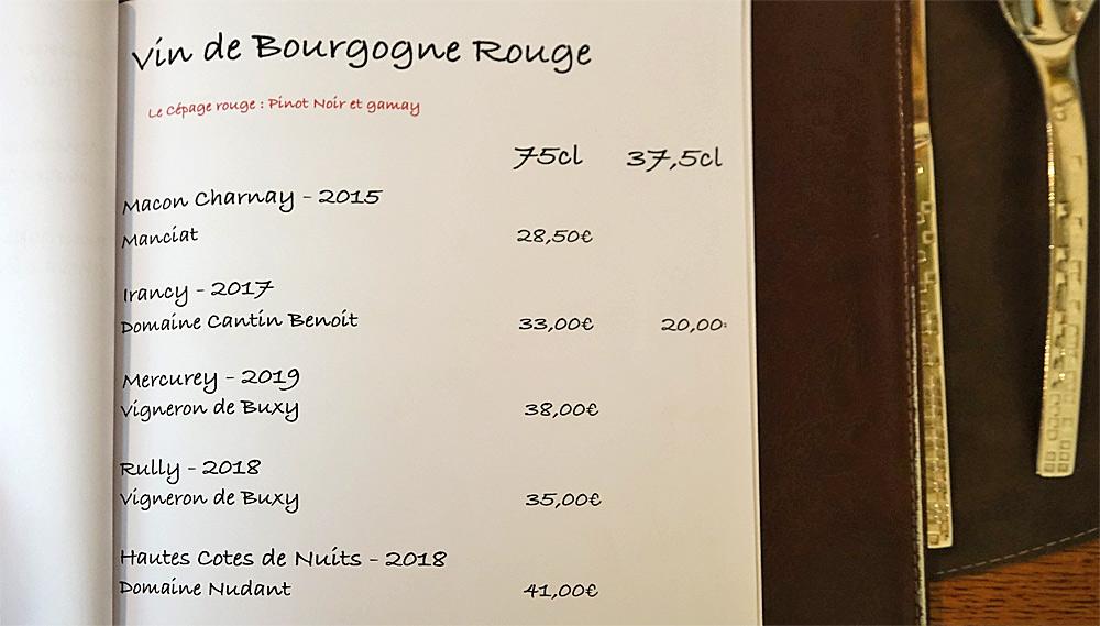 Vins de Bourgogne rouge