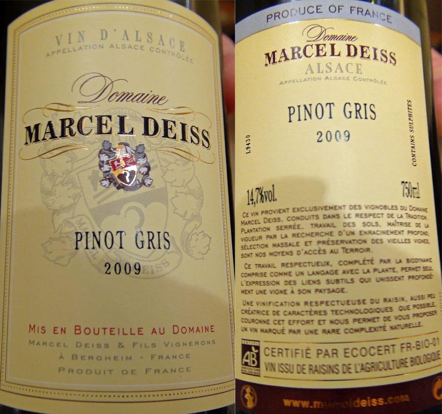 Pinot gris 2009 Marcel Deiss
