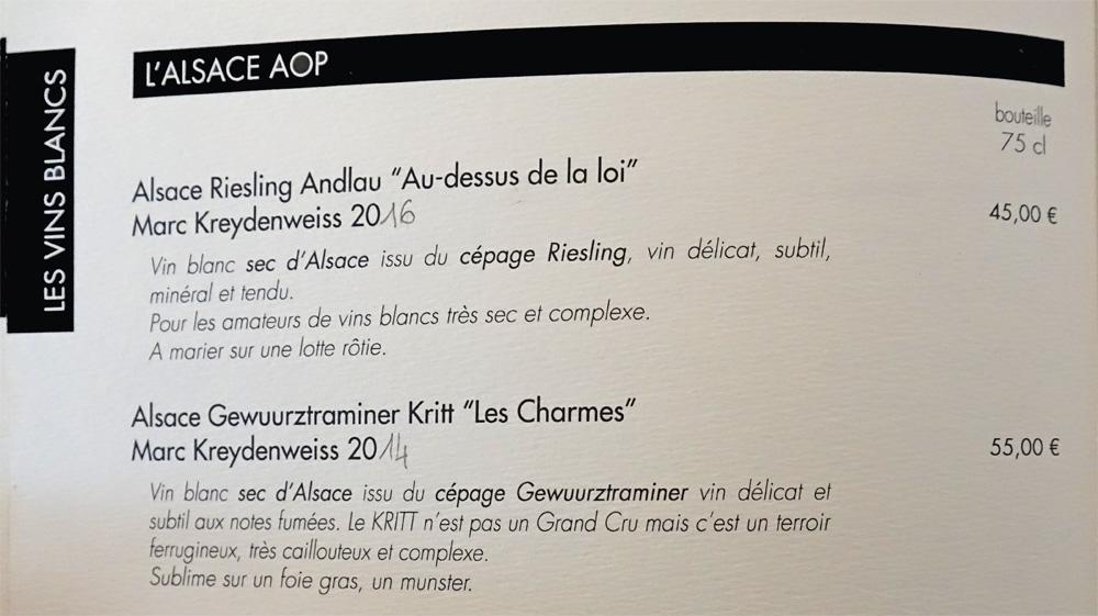 Vins blancs - Alsace