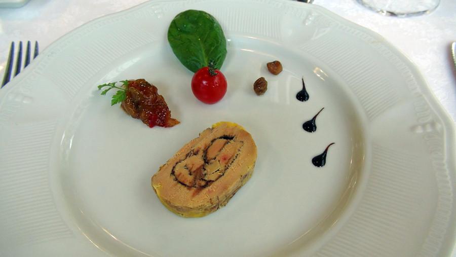 Foie gras de canard au cacao