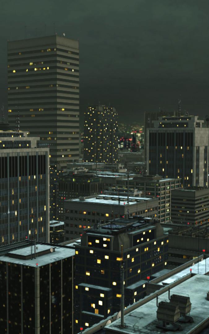 Blick von einer Penthouse-Terrasse