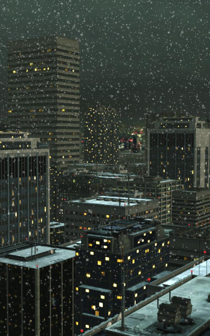 Schneefall (animiert)