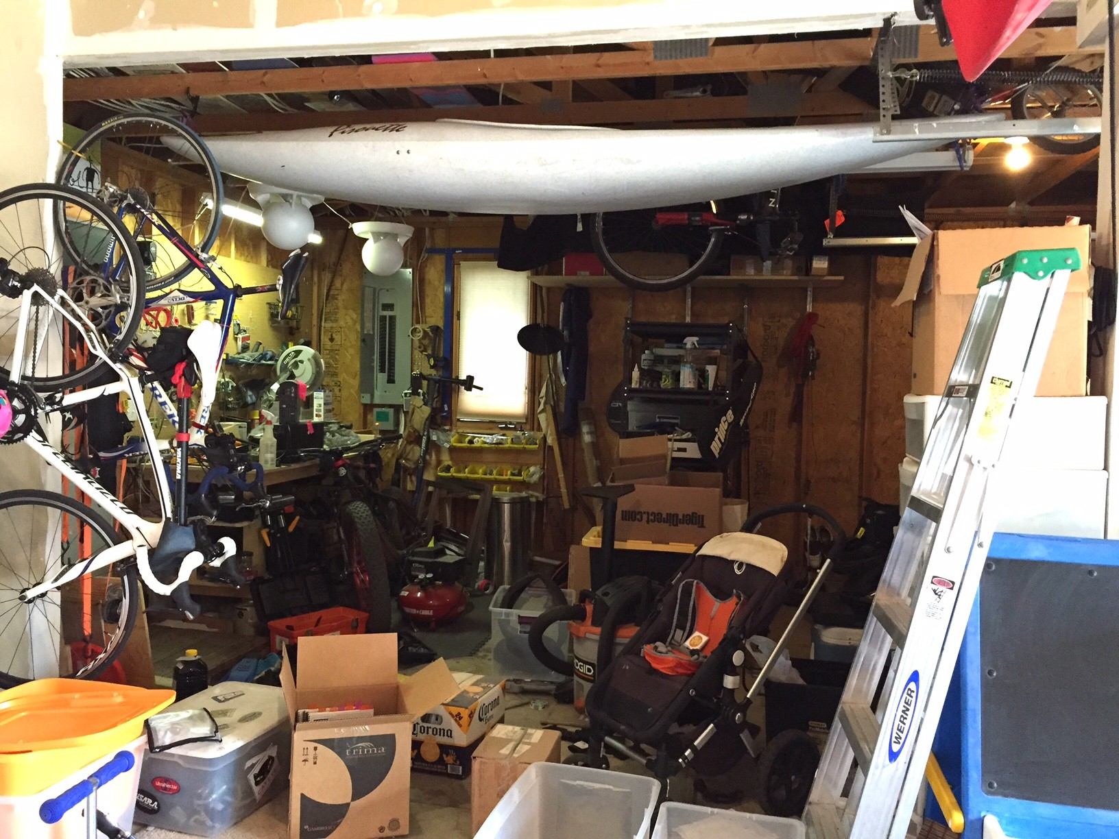 """Before"" of 3-bay garage for busy young parents, with an athletic lifestyle....."