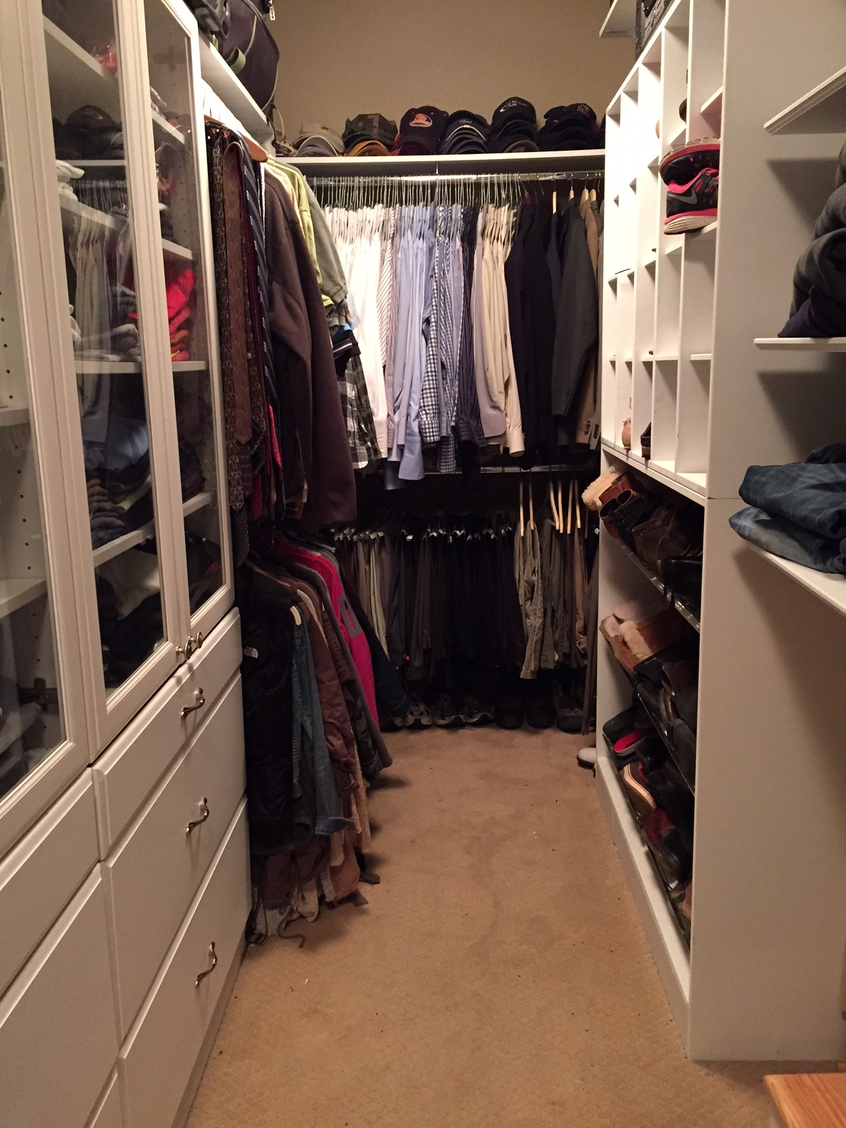 Same closet put back together.