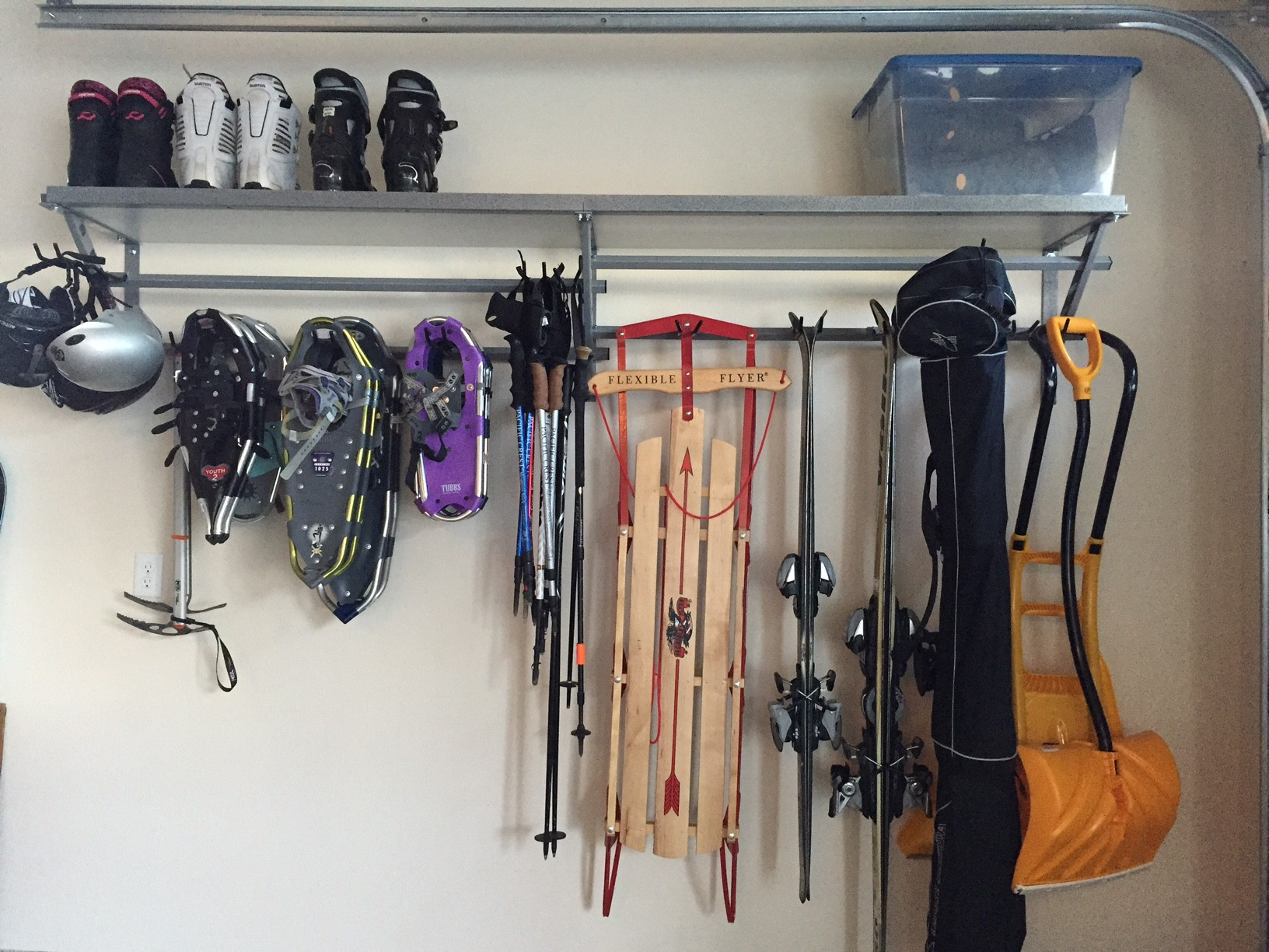 Monkey Bar (company) storage was a great solution for winter gear.