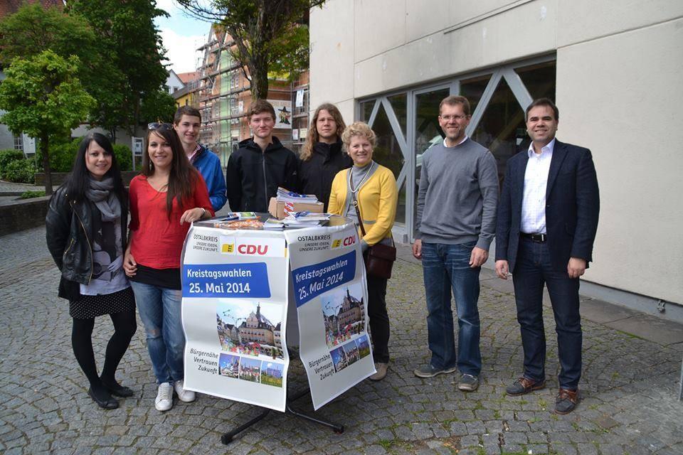 Wahlkampfstand zur Kommunalwahl 2014 in Bopfingen