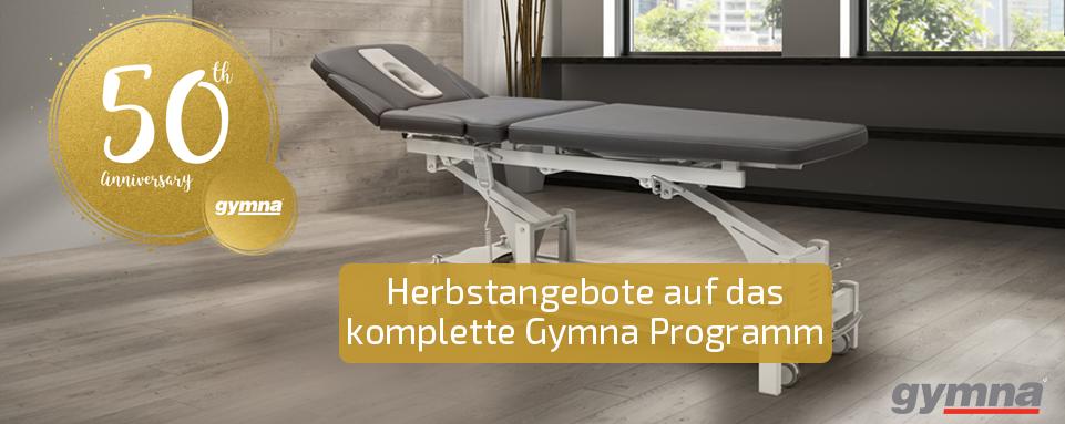 Gymna Herbstaktion 2017, Sonderkonditonen Stark.Concept, Gymna Therapieliegen, Behandlungsliegen, ShockMaster 300 + 500 günstiger, Elektrotherapie, Kryotherapie