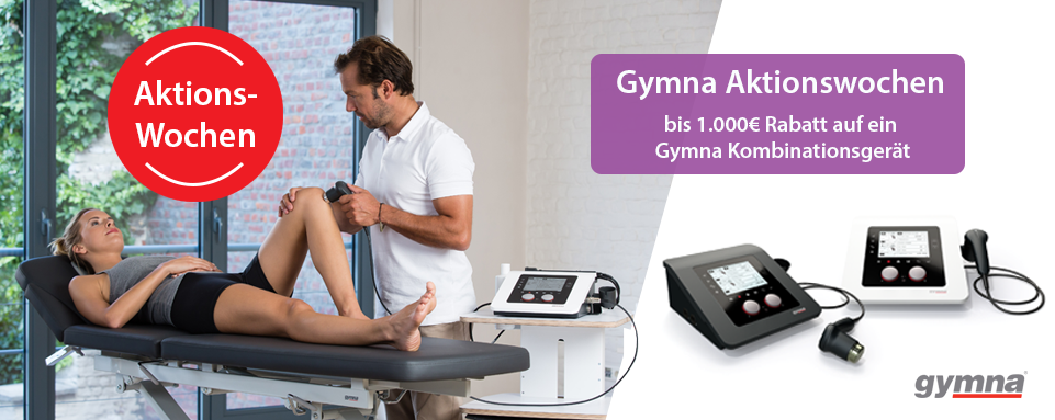 Gymna Kombinationsgerät, Gymna Combi 400, Gymna Combi 200, Elektro- und Ultraschalltherapiegerät, Aktionspreis, Umtauschaktion