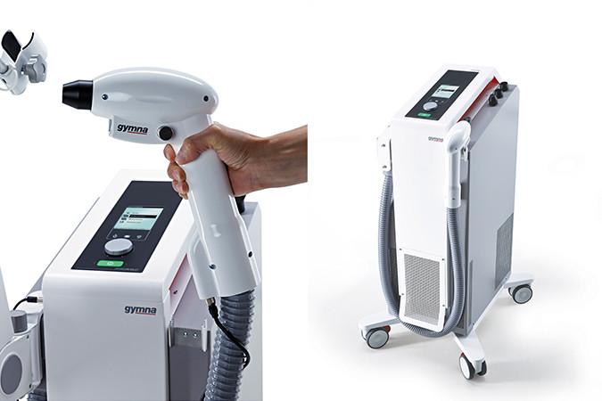 Cryoflow ICE-CT (inkl. Biofeedback) - Der standardmäßig enthaltene Haltearm erleichtert Ihnen die Behandlung.