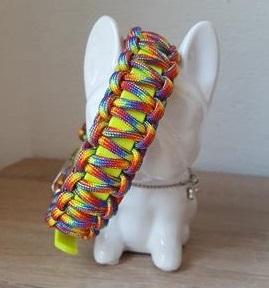 Biothane Hundehalsband mit Paracord, Namen, Perlen, Hund, Biothane Paracord