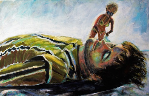 Beachboy 2, 75 x 115, Acryl auf Leinwand