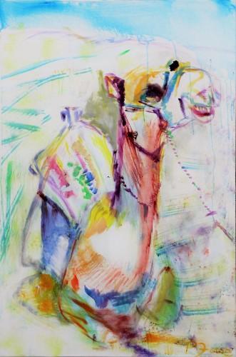 Das lachende Kamel, 120 x 80, Acryl auf Leinwand