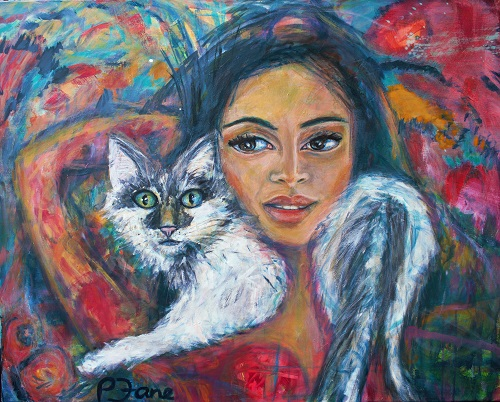 Catwoman, 80 x 100, Acryl auf Leinwand