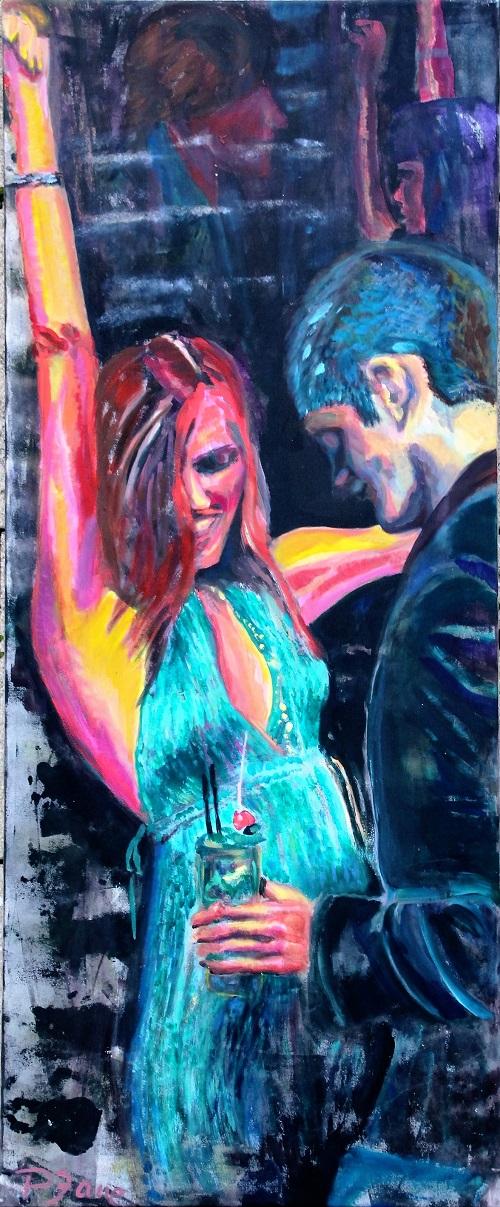 Dancing Star, 145 x 60, Acryl auf Leinwand