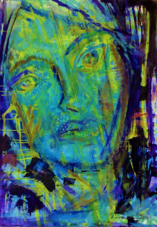 Look, 120 x 90, Acryl auf Leinwand
