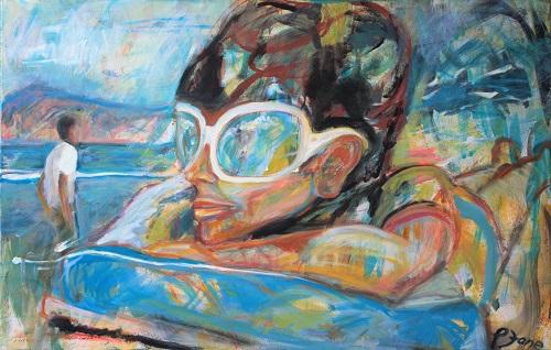 Beachboy 1, 75 x 115, Acryl auf Leinwand