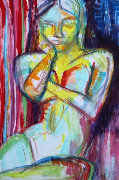 Think, 120 x 80, Acryl auf Leinwand