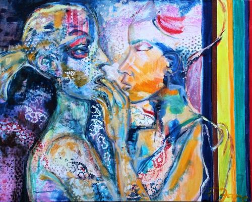 Touch, 100 x 80, Acryl auf Leinwand