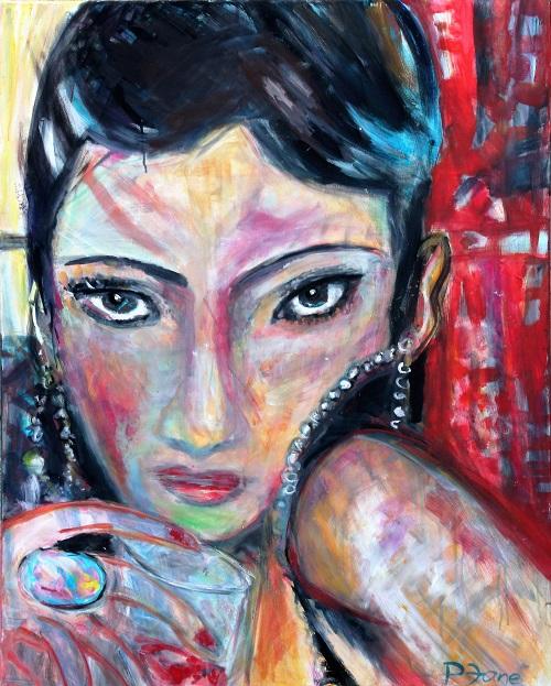 Liebe auf den ersten Blick, 100 x 80, Acryl auf Leinwand