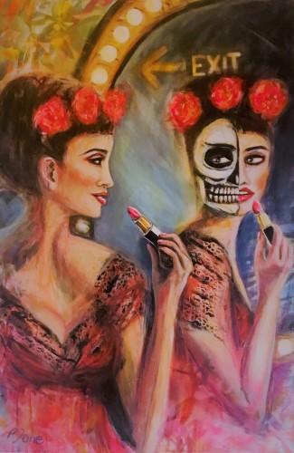 come as you are, 120 x 80, Acryl und Sprayfarbe auf Leinwand