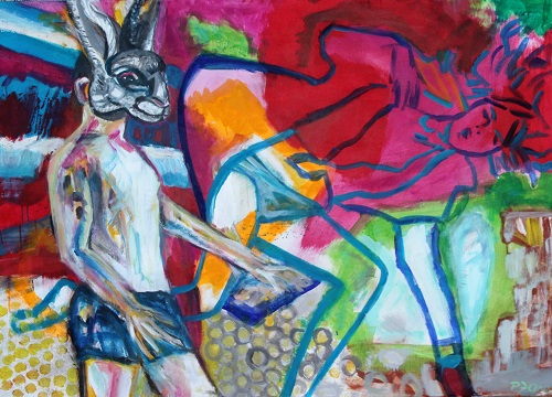 Nikolausi, 100 x 140, Acryl auf Leinwand