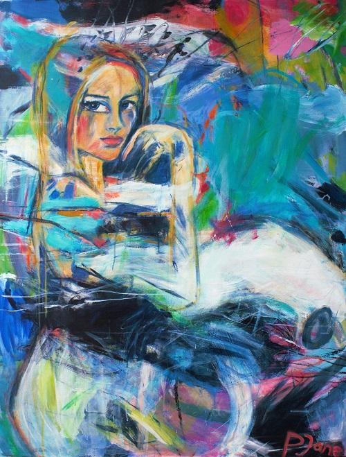Sunday in bed, 130 x 100, Acryl auf Leinwand