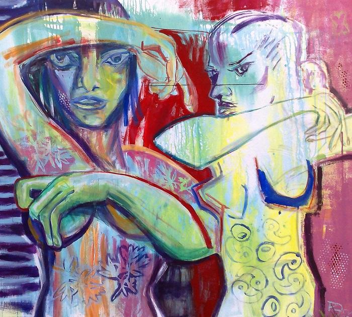 Dance, 180 x 200, Acryl auf Leinwand