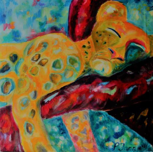 Lalelu, 110 x 110, Acryl auf Leinwand