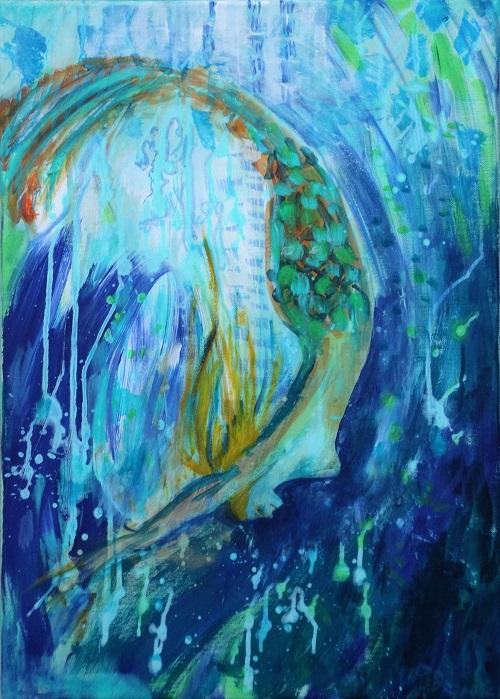 Splash , 70 x 50, Acryl auf Leinwand