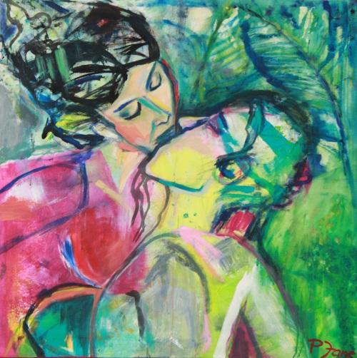 Grenzenlose Liebe, 100 x 100, Acryl auf Leinwand