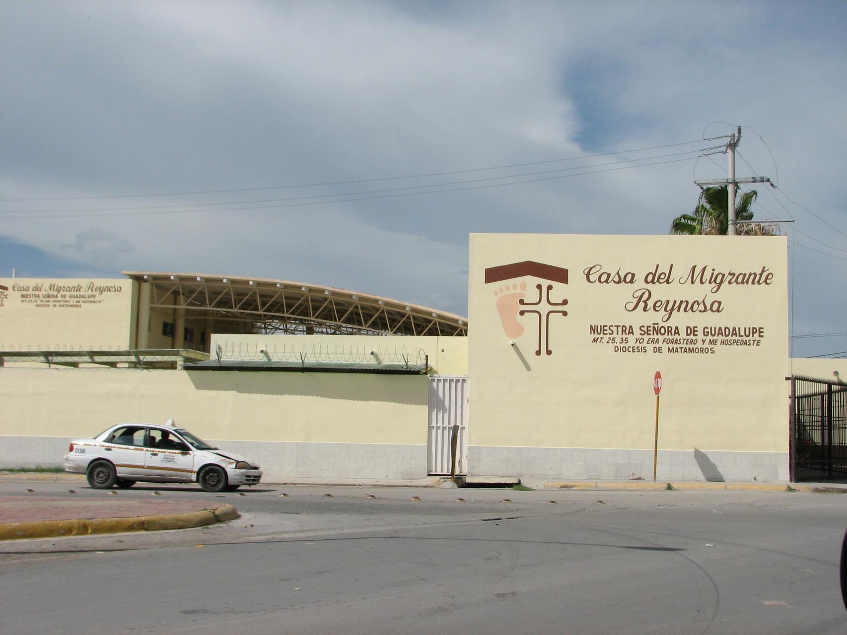 レイノサの「移民の家」。修道女らがボランティアで運営している。