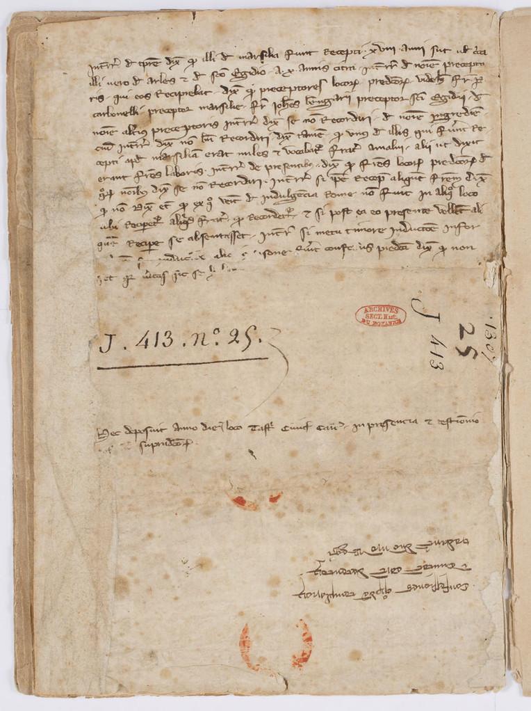 Cahier du procès-verbal des interrogatoires des Templiers de Carcassonne. page 13