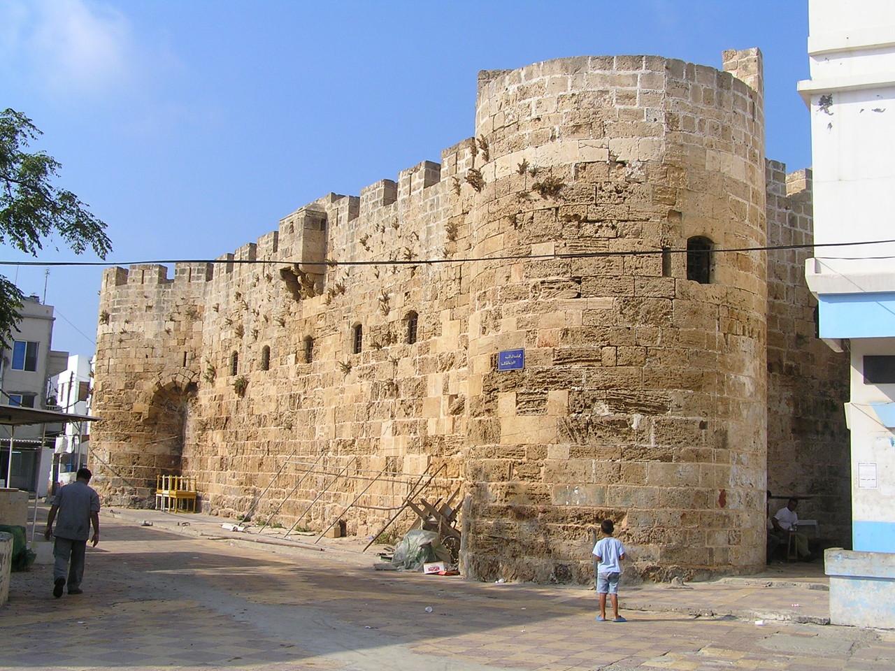 La forteresse d'Al-Burj ayyoubide au port.