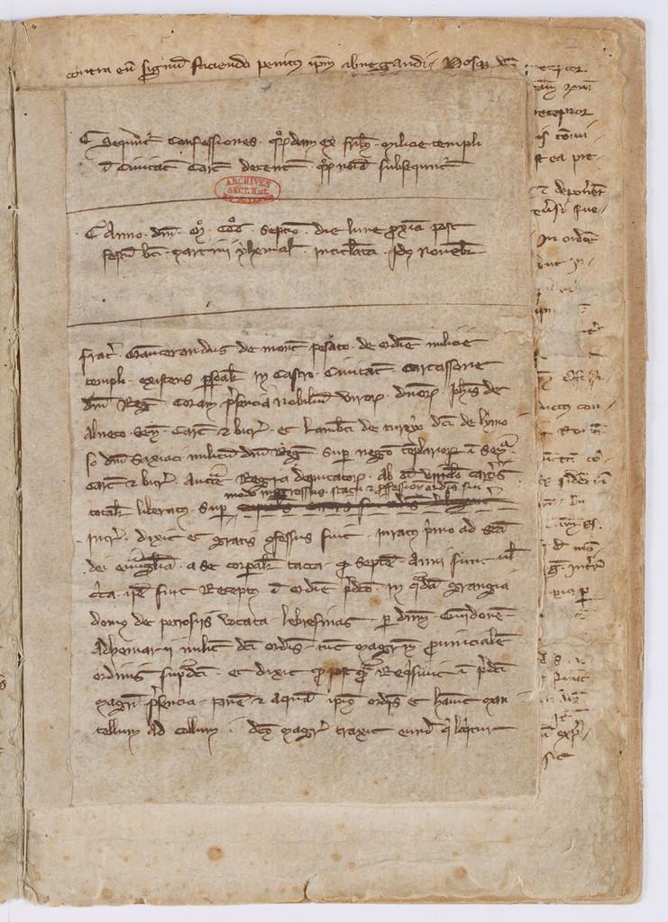 Cahier du procès-verbal des interrogatoires des Templiers de Carcassonne. page 3
