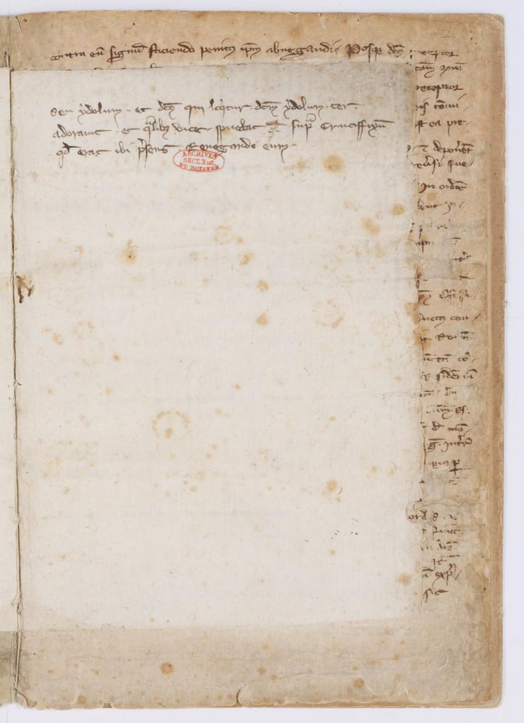 Cahier du procès-verbal des interrogatoires des Templiers de Carcassonne. page 11