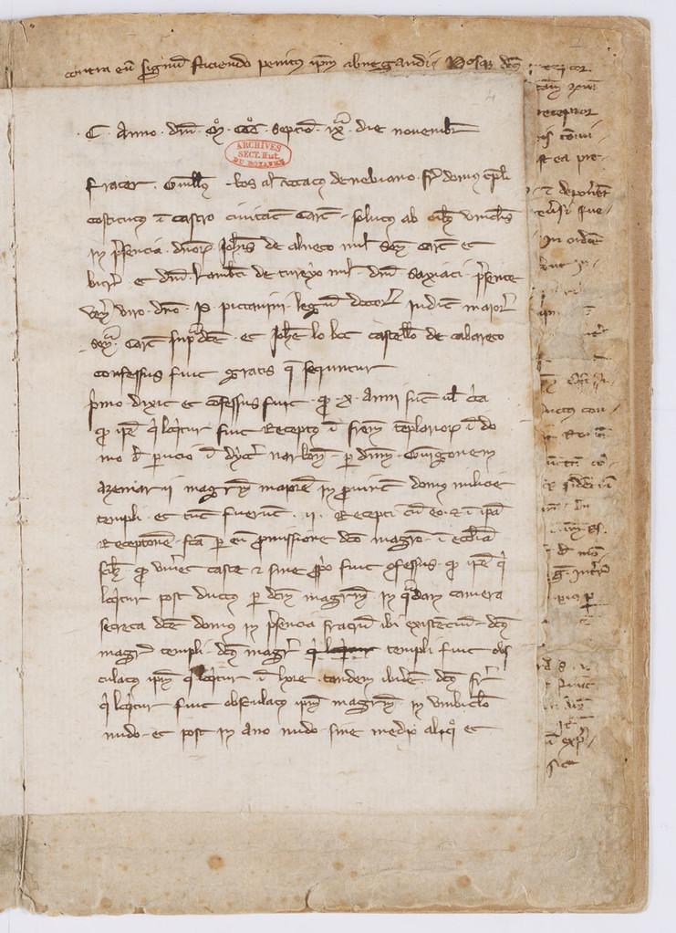 Cahier du procès-verbal des interrogatoires des Templiers de Carcassonne. page 7