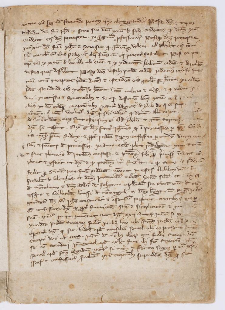 Cahier du procès-verbal des interrogatoires des Templiers de Carcassonne. page 12