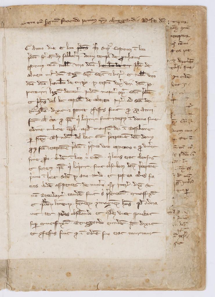Cahier du procès-verbal des interrogatoires des Templiers de Carcassonne. page 9