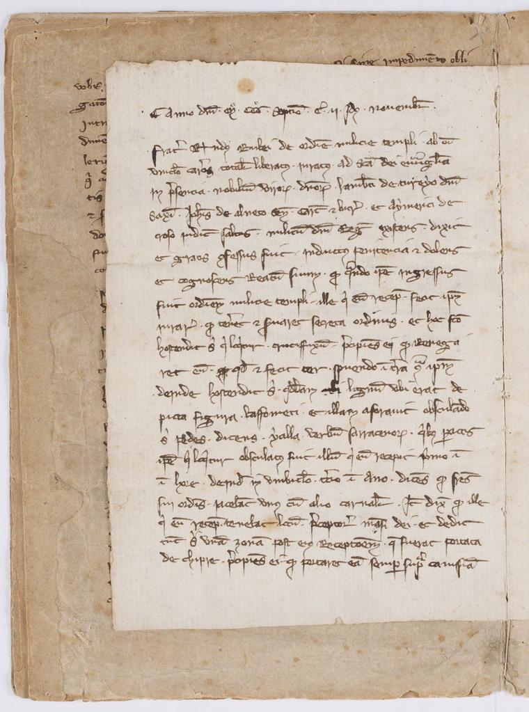 Cahier du procès-verbal des interrogatoires des Templiers de Carcassonne. page 6