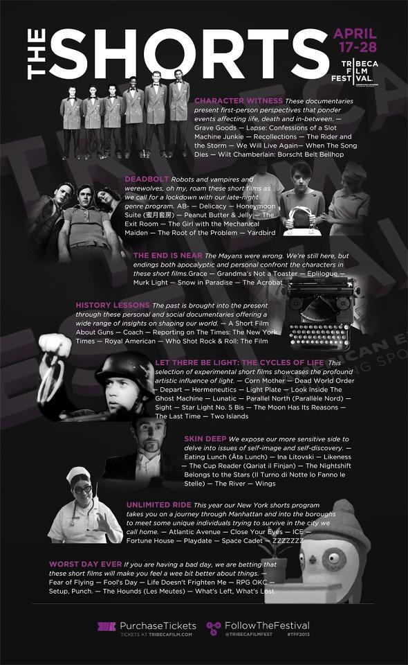 Tribeca Film Festival 2013 Short Films Poster