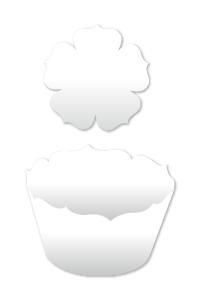 Cupcake Wrapper, Schablone